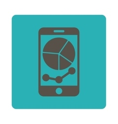 Mobile graphs icon vector