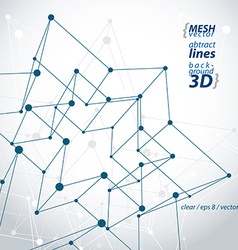 3d mesh polygonal abstract object isolated on vector