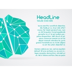 Brainstorm brain creation and idea poster vector