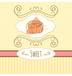 Pastry  hand drawn card with vector