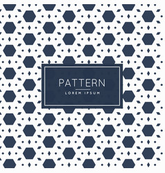 Abstract hexagonal and diamond shape pattern vector