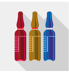 Ampoule medical icon flat style vector