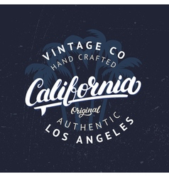 California hand written lettering with palms vector