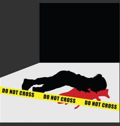 Child silhouette murder vector