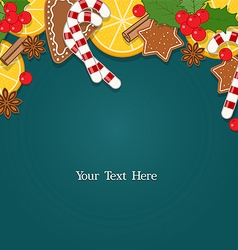 Christmas background with blank space for text vector image vector image