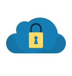 Cloud data security system technology vector