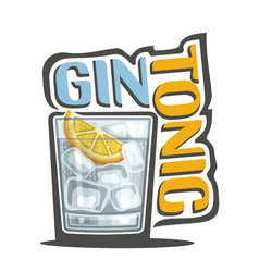 Cocktail gin tonic vector