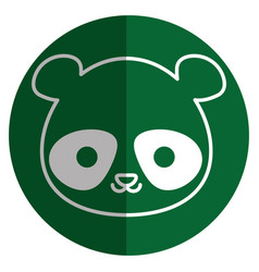 Cute and tender bear panda kawaii style vector