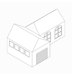 Detached house icon isometric 3d style vector image vector image