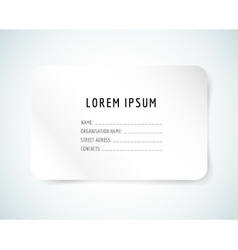 Form blank template Business card paper and vector image vector image