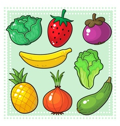 Fruits and Vegetables 03 vector image vector image