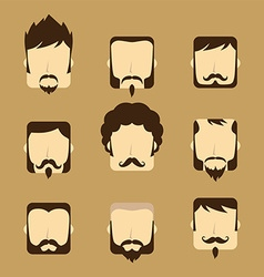 Gentleman avatar portrait icon vector