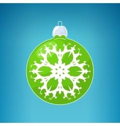 Green Ball with Snowflake vector image vector image