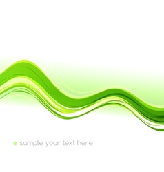 Green color wave vector image vector image