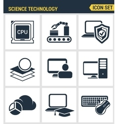 Icons set premium quality of data science vector