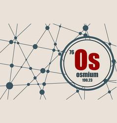 osmium chemical element vector image vector image