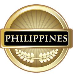 Philippines gold icon vector