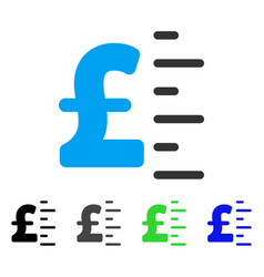 Pound value flat icon vector