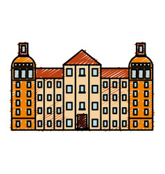 Reichstag building icon vector