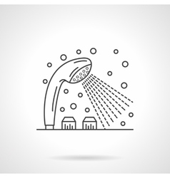 Shower dispenser flat line design icon vector image vector image