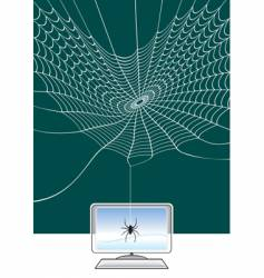 spider web technology vector image