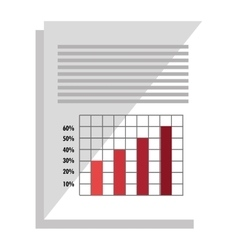 Spreadsheet with statistics graphics icon vector