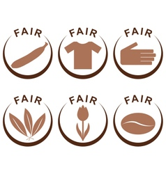 Symbols and products of fair trade vector
