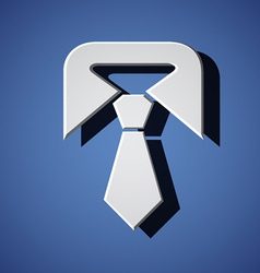 tie white symbol vector image vector image