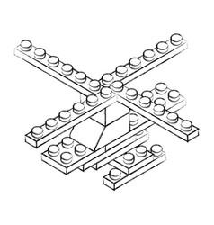 Toy building block bricks vector