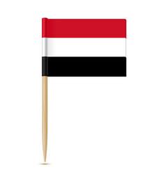 Yemen flag toothpick vector