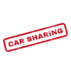 Car sharing text rubber stamp vector