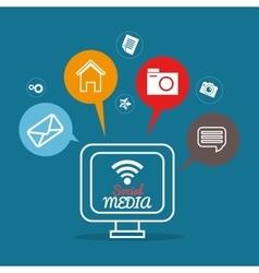 screen computer internet social media apps vector image