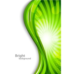 Wavy green background vector image