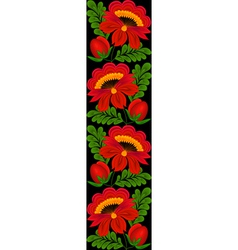 Seamless vertical floral pattern border vector