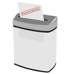 Shredder and text personal identity vector image