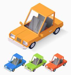 3d cartoon style retro automobile vector