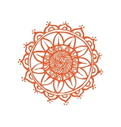 Indian lace ornament handdrawing vector