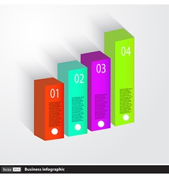 Business infographics 3d graph vector