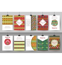 Set of creative vintage card templates  best vector