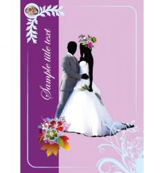 Wedding album vector