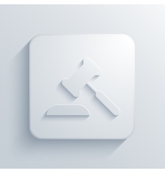 Modern courthouse light icon vector