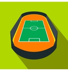 Open soccer field flat icon vector