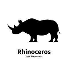 a silhouette of a rhino vector image vector image