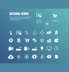Bitcoin icons for currency exchange online vector