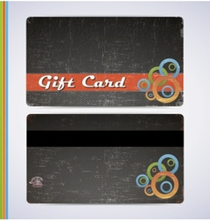 Blac gift card vector