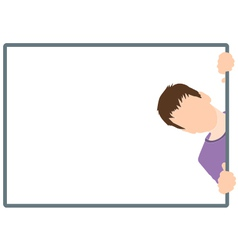 Boy silhouette in frame vector