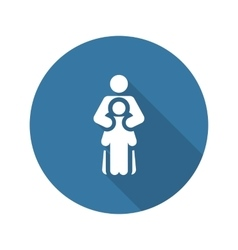 Child life protection icon flat design vector