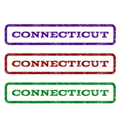 connecticut watermark stamp vector image