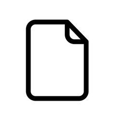 document icon sheet of blank paper outline vector image vector image