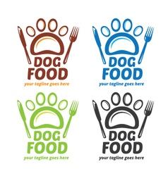 Dog food logo dog signage pet shop logo paw log vector